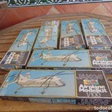 Maquetas: LOTE DE 6 MAQUETAS PARA MONTAR JAK 24 DE AIRPLANE MODELKIT. Lote 113061067