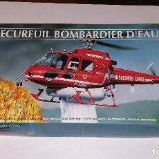 Maquetas: HELICOPTERO ECUREUIL BOMBARDIER D'EAU. HELLER 1/50. Lote 113153591