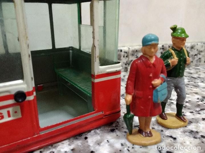 Maquetas: Rigi 900 Cabina Remonte Lehmann Alemania.Con 2 Figuras Antiguas Mujer con Bolso y Alpinista.1960 - Foto 7 - 113530667