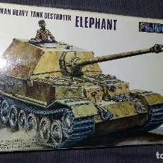 Maquetas: GERMAN HEAVY TANK DESTROYER ELEPHANT, FUJIMI 1/72. Lote 113590143