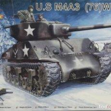 Maquetas: MAQUETA CARRO SHERMAN M4A3, 76W, REF. 84805, 1/48, HOBBY BOSS. Lote 119142103