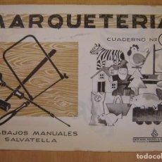 Maquetas: CUADERNO- MARQUETERÍA - Nº 1 - SALVATELLA. Lote 114187811