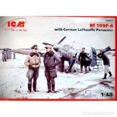 Maquetas: MAQUETA 1/48 - BF 109F-4 WITH GERMAN LAFTWAFFE PERSONNEL. Lote 114354015
