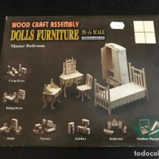 Maquetas: WOOD CRAFT ASSEMBLY DOLLS FURNITURE IN 1/12 SCALE . Lote 114358911