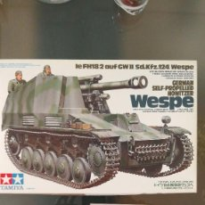 Maquetas: SELF PROPELLED HOWITZER WESPE. Lote 115373231