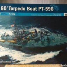 Maquetas: ITALERI ELCO 80'TORPEDO BOAT PT-596 1:35. Lote 115520472