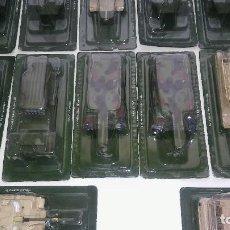 Maquetas: LOTE DE 16 TANQUES MILITARES ALEMANES Y SOVIETICOS, MAQUETAS SEGUNDA GUERRA MUNDIAL, METAL, DIORAMA. Lote 116154759