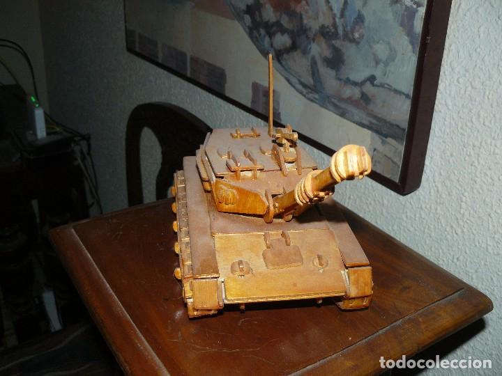 Maquetas: juguete antiguo carro de combate tanque de madera - Foto 2 - 116568251