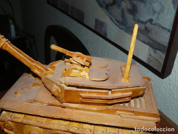 Maquetas: juguete antiguo carro de combate tanque de madera - Foto 5 - 116568251