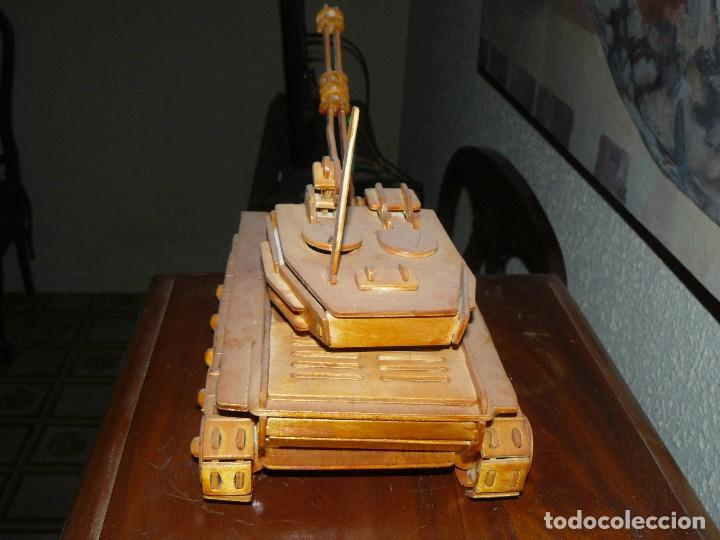 Maquetas: juguete antiguo carro de combate tanque de madera - Foto 6 - 116568251