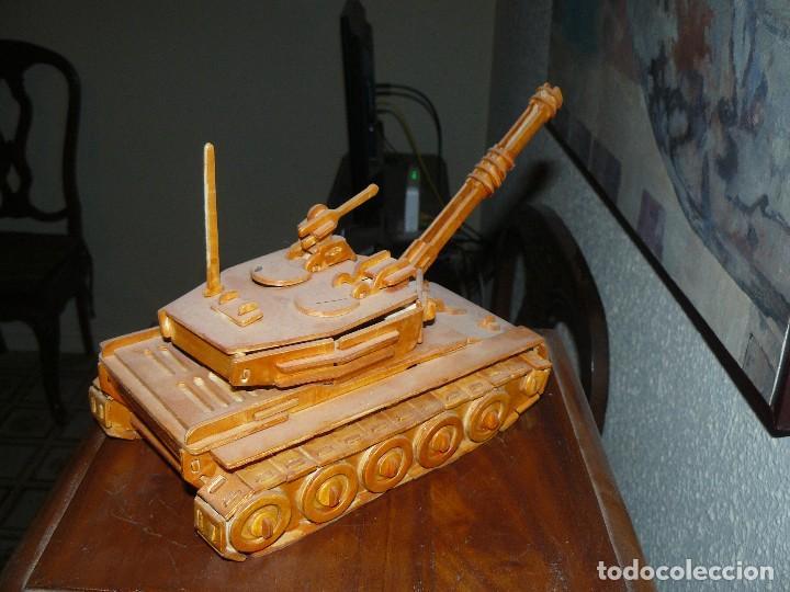 Maquetas: juguete antiguo carro de combate tanque de madera - Foto 7 - 116568251