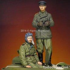 Maquetas: WWII 2 FIGURAS SOVIET SOLDIER TANK CREW 1/35 RESINA ACCESORIOS DIORAMA. Lote 116663775