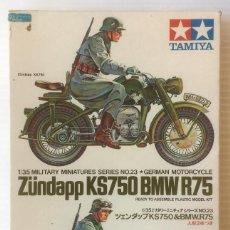 Maquetas: MAQUETA ZÜNDAPP KS750 BMW R75. TAMIYA, ESCALA 1:35. MADE IN JAPAN. REF. MM123-250.. Lote 116781039