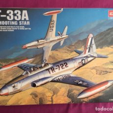 Maquetas: T-33 A SHOOTING STAR 1:48 ACADEMY 2185 MAQUETA AVIÓN EJÉRCITO DEL AIRE. Lote 116888036