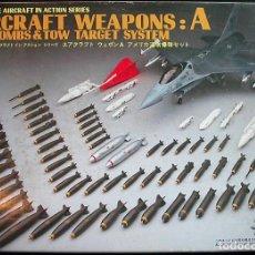 Maquetas: MAQUETA HASEGAWA 1/48 AIRCRAFT WAPONS A (US BOMBS & TOW TARGET) #X48-1 - INCOMPLETO. Lote 116955803