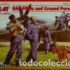 Maquetas: ICM - RAF PILOTS AND GROUND PERSONNEL 1939-1945 48081 1/48. Lote 117460167