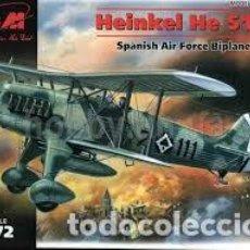 Maquetas: ICM - HEINKEL HE 51B-1 SPANISH AIR FORCE BIPLANE FIGHTER 72191 1/72. Lote 117461539