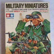 Maquetas: MILITARY MINIATURES. GERMAN MACHINE GUN TROOPS INFANTRY. 1/35. TAMIYA. KIT MM138*250. VER FOTOS!!!. Lote 118074031