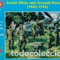 Maquetas: ICM - SOVIET PILOTS AND GROUND PERSONNEL (1943-1945 ) 48021 1/48. Lote 118306887