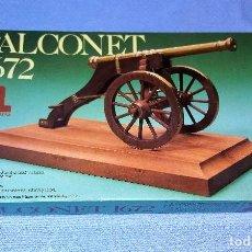 Maquetas: CAÑON FALCONET 1672 DE ARTESANIA LATINA DE MADERA Y LATON AÑO 1984 A ESTRENAR. Lote 118367091