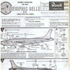 Maquetas: INSTRUCCIONES DE MONTAJE DEL BOEING B-17 DE REVELL ESCALA 1/72. Lote 118506879