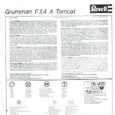 Maquetas: INSTRUCCIONES DE MONTAJE DEL GRUMMAN F-14 TOMCAT DE REVELL ESCALA 1/72. Lote 118507027