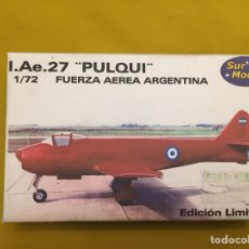 Maquetas: I.AE. 27 PULQUI FUERZA AEREA ARGENTINA 1:72 SUR MODELS MAQUETA AVIÓN. Lote 118605968