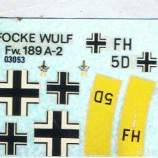 Maquetas: HOJA DE CALCAS PARA EL FOCKE WULF FW-190 A-2 DE AIRFIX ESCALA 1/72. Lote 118608931