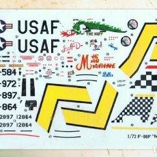 Maquetas: HOJA DE CALCAS PARA EL NORTH AMERICAN F-86F DE FUJIMI ESCALA 1/72. Lote 118608987