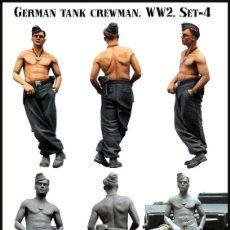 Maquetas: WWII GERMAN TANK CREWMAN 1 FIGURA RESINA 1/35 ACCESORIOS DIORAMA A-109. Lote 118635299