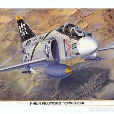 Maquetas: MAQUETA 1/48 - F-4B/N PHANTOM II 'CVW-19 CAG' HASEGAWA - NR. 09787 - 1:48. Lote 118794735