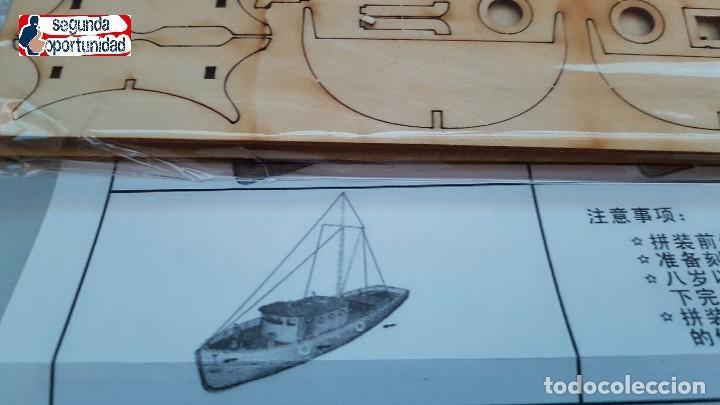 Modelle: Maqueta de madera de barco de pesca. Tamaño 24x22 cm - Foto 4 - 147659734