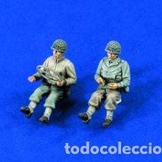 Maquetas: U.S. WWII TRUCK DRIVERS 1:35 VERLINDEN 1327 MAQUETA FIGURA CARRO DIORAMA. Lote 119133894