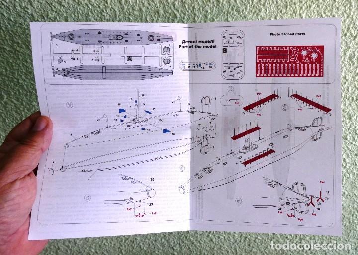 Maquetas: ARMADA ESPAÑOLA. KIT DE MONTAJE, MAQUETA DEL SUBMARINO TORPEDERO DEL TENIENTE DE NAVIO ISAAC PERAL. - Foto 6 - 269836383