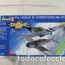 Maquetas: REVELL - COMBAT SET FW 190C A-8 & HURRICANE MK IIC 04161 1/72. Lote 119309915
