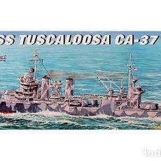 Maquetas: MAQUETA DEL CRUCERO PESADO NORTEAMERICANO USS TUSCALOOSA (CA-37) DE TRUMPETER A 1/700. Lote 119411543
