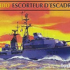 Maquetas: MAQUETA DE LA FRAGATA DE ESCOLTA FRANCESA CLASE SURCOUF DE HELLER A ESCALA 1/400. Lote 187569942
