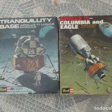 Maquetas: 2 MAQUETAS ESPACIALES-APOLO 11 COLUMBIA AND EAGLE Y TRANQUILLITY BASE APOLO 11 LUNAR MODULE. Lote 120061219