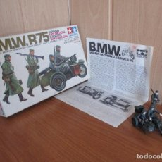 Maquetas: TAMIYA: MAQUETA MOTOCICLETA EJERCITO ALEMAN BMW R-75 ESCALA 1/35. Lote 120259831