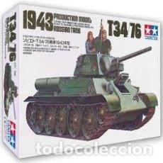 Maquetas: MAQUETA 1/35 -RUSSIAN TANK T-34/76 1943 PRODUCTION MODEL TAMIYA - NR. MM159 - 1:35. Lote 121185579