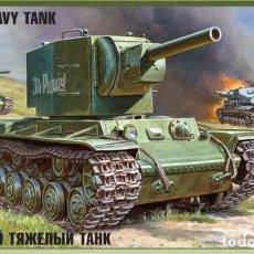 Maquetas: MAQUETA 1/35 - SOVIET HEAVY TANK KV-2 ZVEZDA - NR. 3608 - 1:35. Lote 121185891