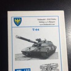 Maquetas: TRACKS CADENAS ORUGAS T-64 METÁLICAS 1:35 FRIULMODEL ATL-132 MAQUETA CARRO. Lote 121564066