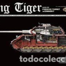 Maquetas: MAQUETA 1/35 - KING TIGER SD.KFZ.182 PORSCHE TURRET W/ZIMMERIT TAKOM - NR. 2046 + 5 FIGURAS RESINA. Lote 121879915