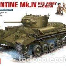Maquetas: MAQUETA 1/35 - VALENTINE MK.IV RED ARMY W/CREW MINIART - NR. 35092 - 1:35. Lote 121880287