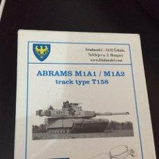 Maquetas: CADENAS ORUGAS METAL ABRAMS M1A1 M1A2 1:35 FRIULMODEL ATL-155 MAQUETA CARRO. Lote 122387832