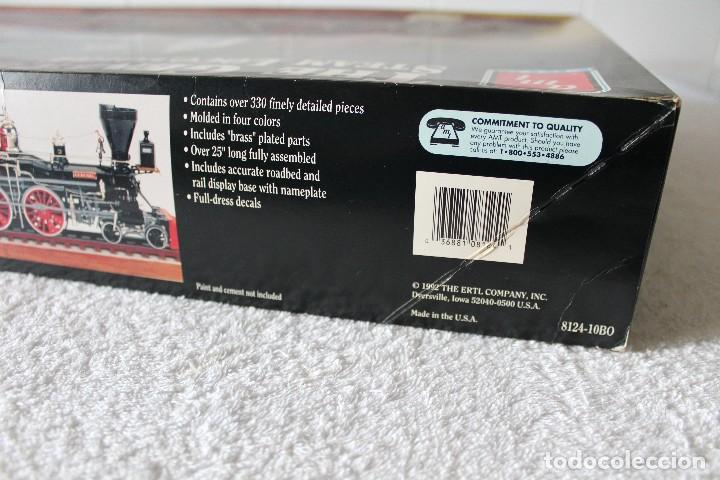 Maquetas: AMT ERTL. ESCALA 1/25: THE GENERAL STEAM LOCOMOTIVE, A CLASSIC MASTERPIECE - MADE IN USA 1992 - Foto 11 - 122549855