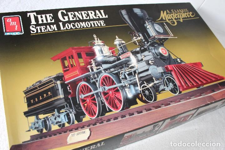 Maquetas: AMT ERTL. ESCALA 1/25: THE GENERAL STEAM LOCOMOTIVE, A CLASSIC MASTERPIECE - MADE IN USA 1992 - Foto 13 - 122549855