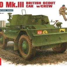Maquetas: MINIART 35077 DAIMLER DINGO MK.III BRITISH SCOUT CAR W/CREW 1/35. Lote 122553819