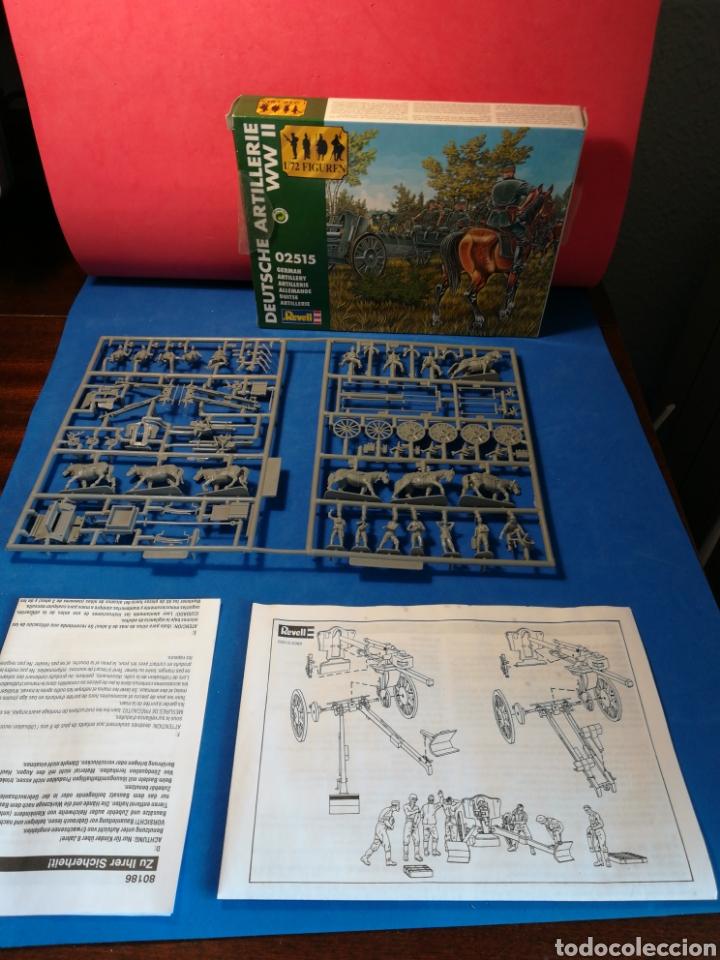 REVELL ARTILLERÍA ALEMANA SEGUNDA GUERRA MUNDIAL REF. 02515 15 SOLDADITOS + CABALLOS, ARMAMENTO (Spielzeug - Modellbau und Funksteuerung - Modelle - Militär)