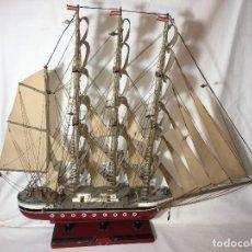 Maquetas: RA4 MAQUETA DE BARCO VELERO, HECHO ARTESANAL Y LLEVA LUCES. Lote 122825471